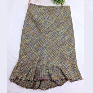 Anthropologie Elevenses Skirt SZ 0 Pencil Wool EUC